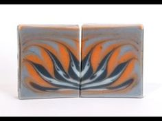 Homemade Soap - Indigo and Paprika Lotus Flower Circling Taiwan Swirl Soap - YouTube