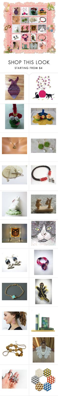 """""""Easter Shopping on Etsy"""" by cozeequilts ❤ liked on Polyvore featuring Herz, Gorham, Natural Blue, Peugeot and vintage"""