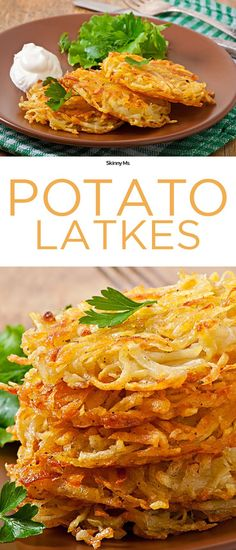 This Potato Latkes recipe calls for clean ingredients like whole-wheat flour, onions, eggs, and not a drop of oil! Plus they're a breeze to make!
