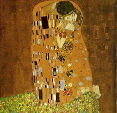 Gustav Klimt – 1862-1918 – Avusturya  The Kiss - Öpücük  'Öpücük', anın ve mekânın dışında, bir yerde birbirlerinden geçercesine öpüşen bir çiftin tasviridir. Tabloda, Klimt'in vazgeçemediği çizgiler ve dekoratif süslemeler dikkat çeker. Kadın ve erkeğin dünyasındaki farklılığa dikkat çeken ressam, kadını çiçekler arasında tıpkı bir ilkbahar gibi resmederken, erkeği daha sert çizgiler ve geometrik desenlerle yansıtır. Kadın ne kadar kırılgan ve yumuşaksa, erkek o denli sert ve nettir.