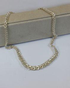 Vintage Halsschmuck - Halskette 835 Silber Gliederkette Vintage SK214 - ein Designerstück von Atelier-Regina bei DaWanda