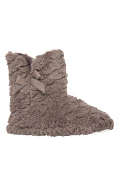 Chaussons montants doux taupe