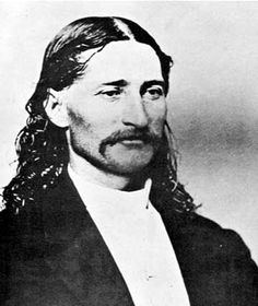Wild Bill Hickok ~ a handsome man from about 10 miles from my home in Illinois either that or black and white photo of Kid Rock! Old West Outlaws, Old West Photos, Cowboys And Indians, Real Cowboys, Into The West, Famous Faces, Famous Men, Famous People, Cowboy Up