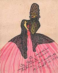 Carmen Tórtola Valencia (June 18, 1882 - February 13, 1955) was a Spanish early modern dancer, choreographer, costume designer, and painter, who generally performed barefoot.