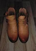 brązowe botki sinsay