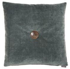 Editta - dark mint - wooden button