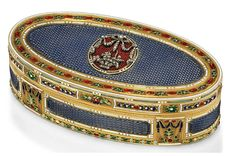 A LOUIS XVI ENAMELLED GOLD SNUFF-BOX SET WITH A LATER JEWELLED PLAQUE BY NICOLAS MARGUERIT (FL. 1763-1790), MARKED, PARIS, 1778/1779, WITH THE CHARGE AND DISCHARGE MARKS OF JEAN-BAPTISTE FOUACHE 1774-1780