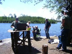 The Traditional CANADIAN FISHING Shore Lunch  Do you dream of... The sizzle of fresh fish over an open fire at a shore lunch spot? Or, the heart pounding excitement as the waters of a calm bay explodes with the first fish of the day? One of t...