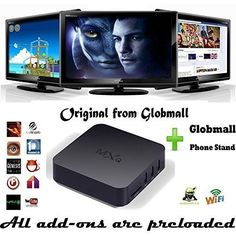 New Arrival] Globmall MXV Fully Loaded KODI Quad Core Android Smart Set Top TV Box + Globmall Phone Stand - Introduce what's new and future releases an updated daily Smart Set, Phone Stand, Android 4, Whats New, Quad, Core, Technology, Tv, News