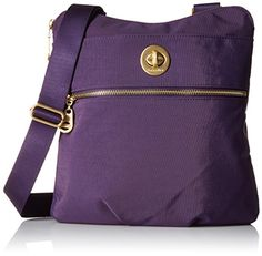 Women's Cross-Body Handbags - Baggallini Gold International Hanover Crossbody Grape ** Be sure to check out this awesome product.