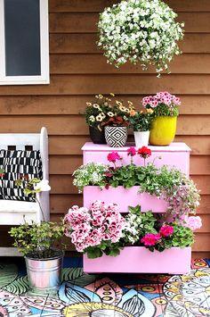 dresser turned planter