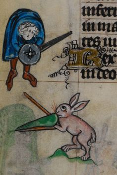 Book of Hours, Use of Maastricht ('The Maastricht Hours'). 1st quarter of the 14th century, British Library, Stowe 17, detail of f. 240v.