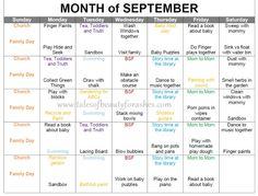 Toddler activity schedule