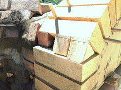 Construction du Four à pain/pizza - Mon four à pain en briques réfractaires Churros, Pain Pizza, Four A Pizza, Stove, Bbq, Construction, Ovens, Wood Burning, Recycling