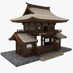 3dsmax asian gate Japanese Gate, Japanese Tea House, Traditional Japanese House, Japanese Garden Design, Asian Architecture, Temple Architecture, Concept Architecture, Amazing Architecture, Japanese Bonsai Tree