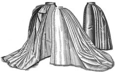 New 1887 Trained Skirt Pattern