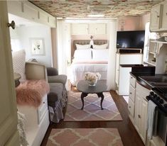 """Awesome camper remodel! Credit to Wendy Wise on her camper """"Tallulah Belle"""""""