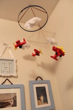 not that eli needs a mobile in his room, but i love the planes and clouds...maybe i could work this in somehow.