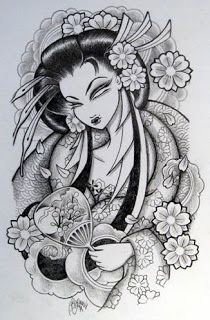 Sakura Geisha tattoo