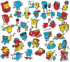 library, book, books, character, friendly, reading, lesen, bücherei, adventure, illustration, illustrator, bubblefriends, cute, niedlich,