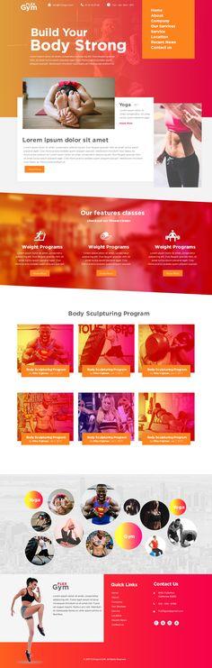 Consultez ce projet @Behance: \u201cFitness Website Template Design\u201d https://www.behance.net/gallery/52167659/Fitness-Website-Template-Design