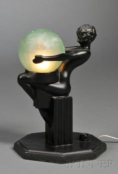 Art Deco Boudoir Lamp Frankart Inc New York City early 20th Century