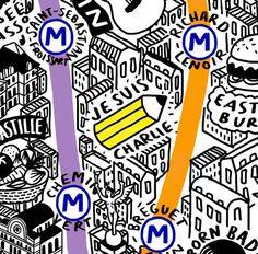 Este mapa de París ha sido dibujado completamente a mano por la ilustradora británica Jenni Sparks, sin perder ningún detalle de esta visión de la ciudad de la moda y el amor. ¡Admirable!