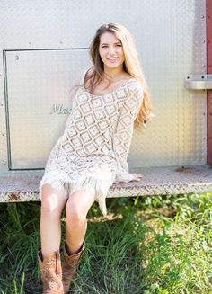 We love this diamond crochet long sleeve shift dress from Judith March! Boutique Dresses, Boutique Clothing, Judith March, Fringe Dress, Online Clothing Boutiques, My Style, Country Style, Womens Fashion, Model