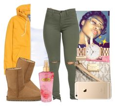 """""""Ahh"""" by aaleeyahxpetty ❤ liked on Polyvore featuring H&M, UGG Australia, Michael Kors, Marc by Marc Jacobs and Victoria's Secret"""
