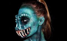 special effects monster body art lara wirth 16 year old takes pleasure in scarring the sh*t out of you HQ Photos) Makeup Fx, Scary Makeup, Makeup Ideas, Tatoo Art, Body Art Tattoos, Body Paint Cosplay, Special Effects Makeup Artist, Male Character, Monster Makeup