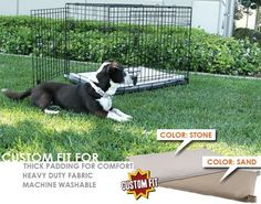 Basic Training Deluxe 2 Door Dog Crate Pad Depth 48 Color Stone >>> Check this awesome product by going to the link at the image. (This is an affiliate link) Dog Crate Pads, Dog Crate Cover, Dog Kennels For Sale, Cool Dog Houses, Dog Training Pads, Training Tips, Pet Cage, Puppy Care, Dog Carrier