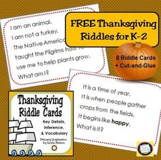 Build Vocabulary with Thanksgiving Riddle Cards – Classroom Freebies Thanksgiving activities: Build Vocabulary with these FREE Thanksgiving Riddle Cards. Thanksgiving Prayer, Thanksgiving Activities, Thanksgiving Appetizers, Thanksgiving Outfit, Thanksgiving Desserts, Thanksgiving Decorations, Teacher Freebies, Classroom Freebies, Vocabulary Building