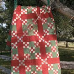 FREE 1893 Nine Patch Quilt Pattern Download.