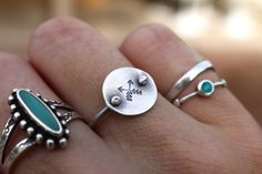 Sterling Silver Crossed Arrows Directions Ring by ashleyweber, $38.00