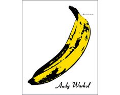 Andy Warhol pop art print poster banana album record cover art home decor wall art print kitchen decor yellow black white modern graphic Pop Art Posters, Cool Posters, Poster Prints, Art Prints, Andy Warhol Pop Art, Art Pop, Andy Warhol Banana, Photoshop Rendering, Banana Print