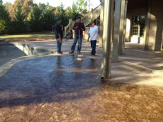 pool stamped concrete