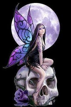Gothic fairies on pinterest gothic fairy anne stokes for Skull fairy tattoos