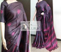 Code:1101184 - Price INR:11500/- , Shibori Printed Tussar Silk Saree.