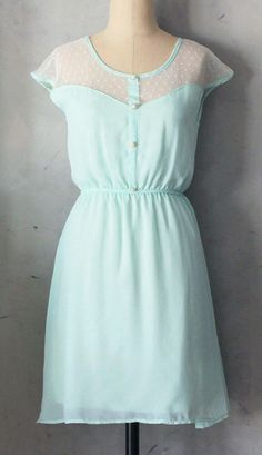 Minty dress for summer time