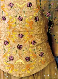 Beautiful Detail on Padme's Meadow picnic dress