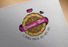 Criação de Logotipo: Identidade Visual desenvolvida pela Artweb para Brownie Time, empresa de produção artesanal de bolos, brownies, entre outros, de Recife - PE. http://www.artwebdigital.com/criacao-de-logotipo-recife-brownie-time