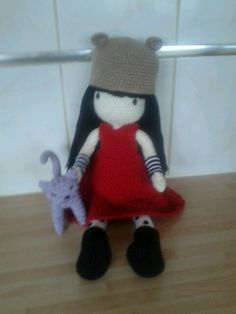Amigurumi gorjuss doll .. Purrrrfect love .... My own design :-)