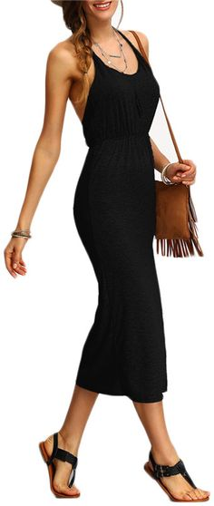 PRODUCT DETAILS - Midi dress - Backless - Slit
