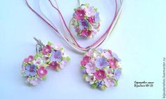 """Sets of handmade jewelry.  Jewelry Set """"Flower bed"""".  BijouTerie HM))).  Shop Online Fair Masters."""