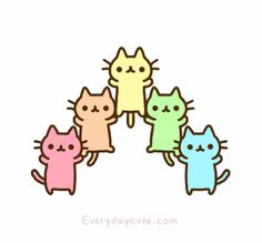 Animated gif shared by Lana. Find images and videos about cute, cat and kawaii on We Heart It - the app to get lost in what you love. Gif Kawaii, Kawaii Cat, Kawaii Chibi, Kawaii Shop, Anime Kawaii, Kawaii Stuff, Kawaii Drawings, Cute Drawings, I Love Cats
