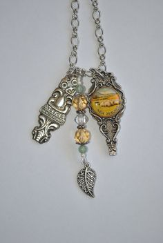 New Zealand Souvenir Spoon Charm Necklace by andthenagaindesigns, $45.00