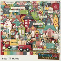 "BoomersGirl Designs: ""Bless This Home"" Digital Kit"