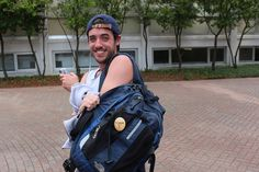 """Senior Colin Hanrahan is representing the #LoynoSMC by wearing his """"I'm Engaging"""" button! #NewsEngagementDay"""