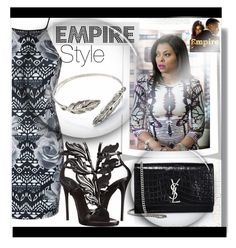 """""""EMPIRE style"""" by din-fashion ❤ liked on Polyvore featuring Ally Fashion, Giuseppe Zanotti, Yves Saint Laurent and EmpireInsider"""