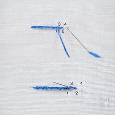 Embroidery Stitches guide - Split Stitch | molliemakes.com